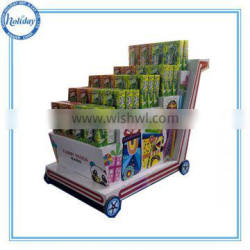 Attractive Cardboard Carton Paper Display Stand for Potato Chip
