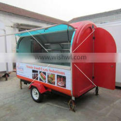 Utility Mobile Food Cart for Frying Chicken & Hotdog & Crepes