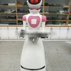 Smart Laserr Navigation Robot Waiter For Serving Dinner In Restaurant