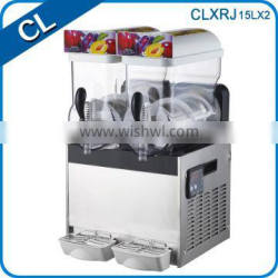 Chiliang 2015 new type double tank cheap price commercial big capacity slush machine