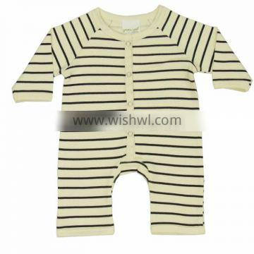 Organic Cotton New Design Baby Lace Rompers and 100% Soft Black Stripes Romper for Babies with Baby Infant Hooded Rompers