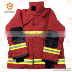 PBI yellow Thermal radiation protection fire fighter clothing with 3m reflective stripe Aramid ripstop material -Ayonsafety