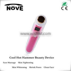 face and body beauty system ultrasonic equipment cool & warm ionic massager