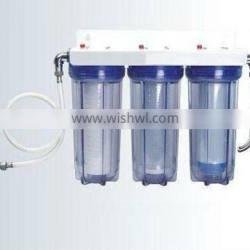 Plastic water filter with or without copper threa
