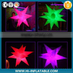 2015 Hot sale Color changing LED party decoration light inflatable star for event decoration