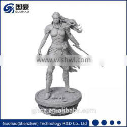 Tablet stand project Shenzhen toys and games Military girl hero resin figure