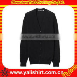 Custom fashion high quality comfortable cheap cotton casual plus size plain soft knited cardigan men
