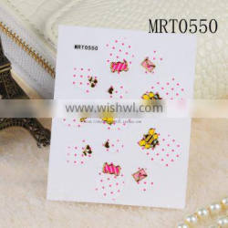 High quality kids nail polish art stickers with free sample service
