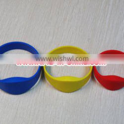 13.56MHz mf Ultralight RFID Get Wristbands, fabric/silicone/pvc rfid wristbands