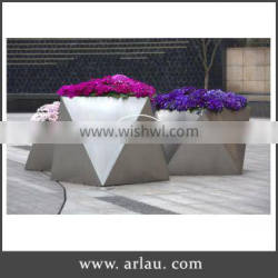 Arlau small stainless steel flower pot, large chinese garden pots