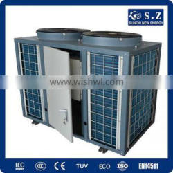 All weather thermostat 32deg.C for 25~320cube meter swimming pool 12kw/19kw/35kw/70kw COP4.6 air source pool water heater CE/TUV
