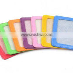 Vertical Style Faux Leather Business Id Credit Card Badge Holder