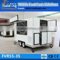 New design China mobile fast food cart with big window and cheap price