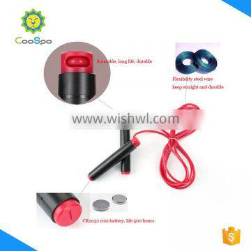 CooSpo high quality length adjustable jump rope with Bluetooth tech
