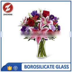 low price acrylic borosilicate glass vase