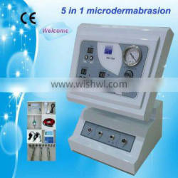 Au-708 from guangzhou 5 in 1 with ultrasonic skin scrubber diamond microdermabrasion beauty machine