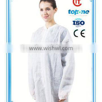 New design white lab coat with great price