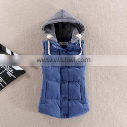 Casual Quilted Mens Hooded Waistcoat for men
