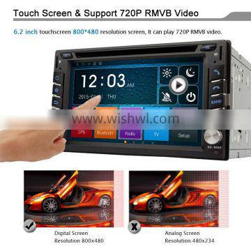 Winmark Car Radio DVD Player 6.2 Inch 2 Din Mstar 2531 With Touch Screen For NISSAN MICRA 2002-2010 Universal