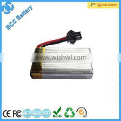 external battery pack 7.4v battery for rc helicopter
