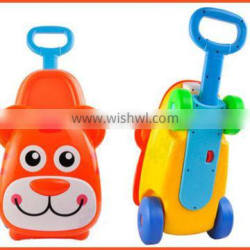 High quality 3 in 1 rid on plastic baby luggage