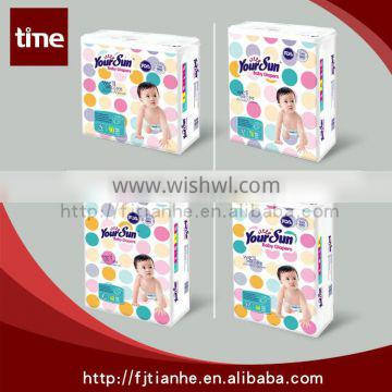 Comfortable And Competitive PE Film Baby Diapers