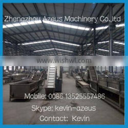 alibaba azeus 200kgs/h full automatic frozen french fries production line