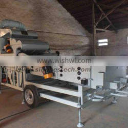 maize seed cleaning machine with thresher and cyclone