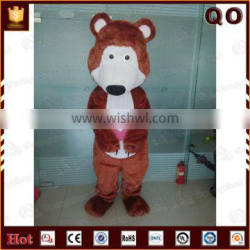 Modern designcustom realistic bear costume for sale for adults
