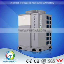 Domestic monobloc heating cooling chiller for pool water
