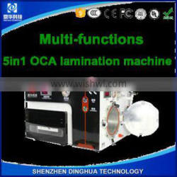 Dinghua lcd refurbish machine no need remove bubbles mobile phone oca repair machine vacuum pump air compressor