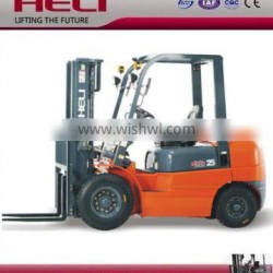 Heli 2.5 ton diesel forklift prices in shanghai china for sale