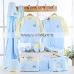 High quality summer 100% cotton new born baby gift set