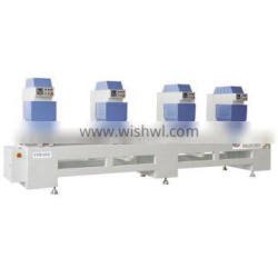 Four head seamless welding machine for pvc window frame