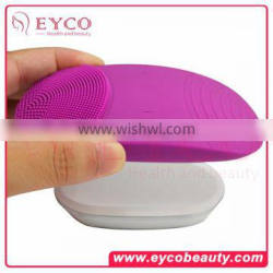 Natural Silicone Electric Facial Cleansing Brush Rechargeable sonic ultrasonic pore cleaner Face Cleaning Brush