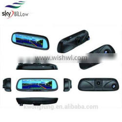 High resolution car rear view mirror dvd 8.2 inch with gps navigations functions