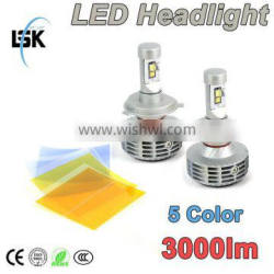 New arrival plug and play led car headlight with 5 color DIY freely
