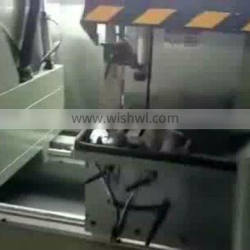 Aluminum window door frame cutting saw fabrication machine