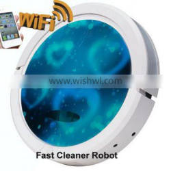 Smartphone app WIFI smart vacuum cleaning robot with 150ML water tank for wet and dry cleaning Quality Choice