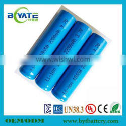 18650 3.7V 2200mAh Li-ion Rechargeable Battery cell for flashlight Torch