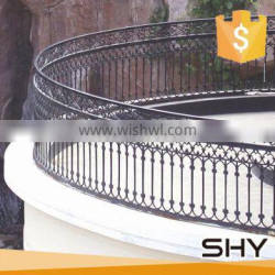 Balcony decoration wrought iron solid metal fence panel