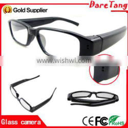 New products 1080P HD no shooting hole for lens hidden glasses camera video glasses with covert cameras