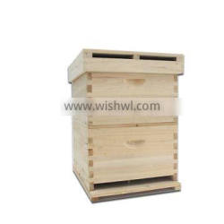 High quality standard ten frame two layers Chinese fir wooden beehive