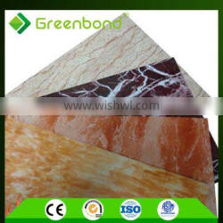 Greenbond best service pvdf marble pattern aluminum composite panel