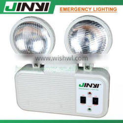 Top manufacturer led plastic rechargeable twin head emergency light