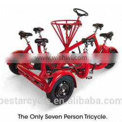 European popular seven-person conference tricycle for city outing