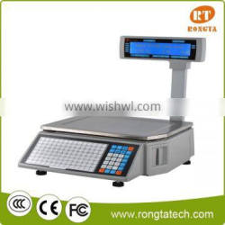 New Barcode label printing scale..