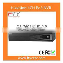 Hikvision DS-7604NI-E1/4P 4CH PoE Mini 1U NVR Support Mobile Phone Remote View NVR