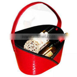 The high-end luury fashion crocodile PU wedding gift basket basket / gifts / Spring Festival to send the relatives leather hand