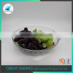 Factory price different sizes fruit clear high borosilicate glass bowl